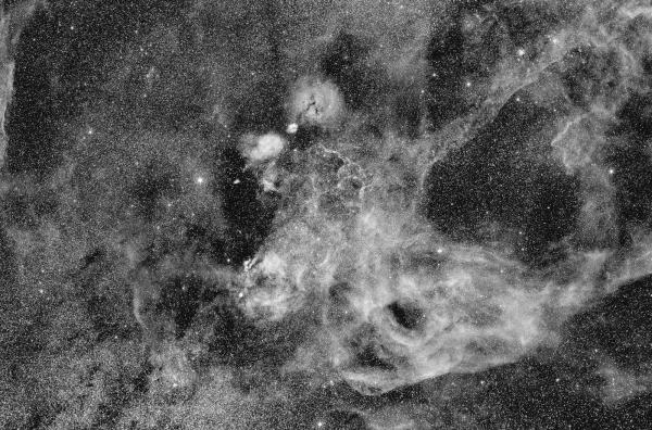 Fig. 1: Hα composite image of the Vela supernova remnant.